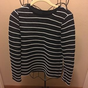 🎉Topshop woven knit top size 2 cute look🎉